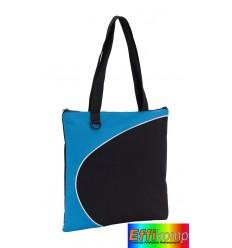 Torba na zakupy, STYLE, jasnoniebieski/czarny.