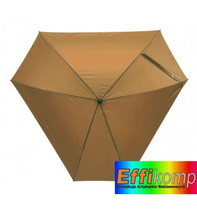 Parasol z włółkna szklanego, TRIANGLE, brązowy.