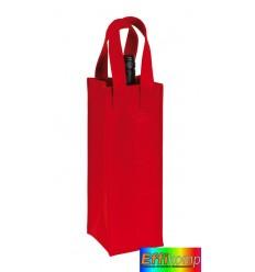 Filcowa torba na butelkę, CABERNET, czerwona.