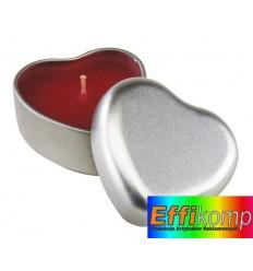 Świeczka o zapachu wanilii, GOOD SPIRITS, czerwony/srebrny.