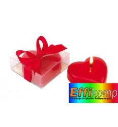 Świeczka w kształcie serca, SWEETHEART, czerwony.