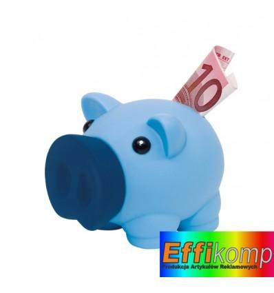 Skarbonka w kształcie świnki, MONEY COLLECTOR, niebieski.