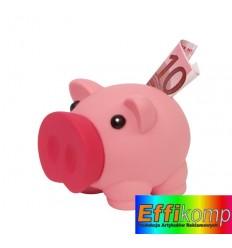 Skarbonka w kształcie świnki, MONEY COLLECTOR, różowy.