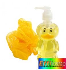Dozownik do żelu pod prysznic, DUCK, żółty.