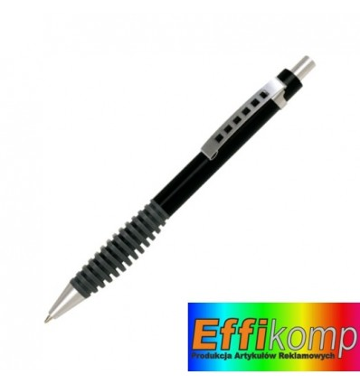 Długopis, TOUCH METAL, czarny.