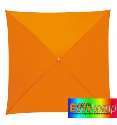 Parasol o kwadratowej czaszy, QUATRO, pomarańczowy.