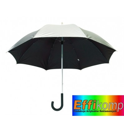 Parasol golf, SOLARIS, srebrny/czarny.