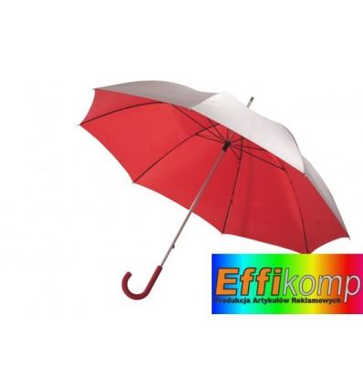 Parasol golf, SOLARIS, srebrny/czerwony.