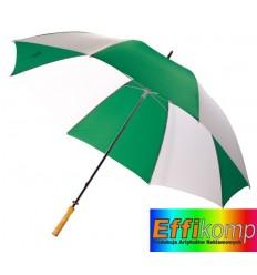 Parasol golf, RAINY, zielony/biały.