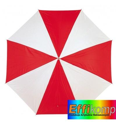 Parasol golf, RAINY, czerwony/biały.