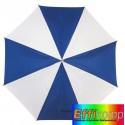 Parasol golf, RAINY, niebieski/biały.