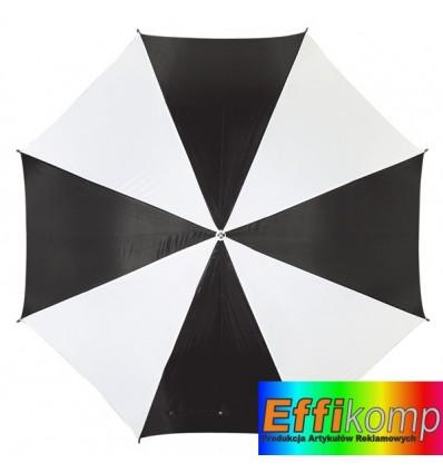 Parasol golf, RAINY, czarny/biały.