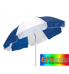 Parasol plażowy, ALOHA, niebieski/biały.