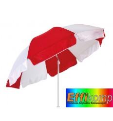 Parasol plażowy, ALOHA, czerwony/biały.