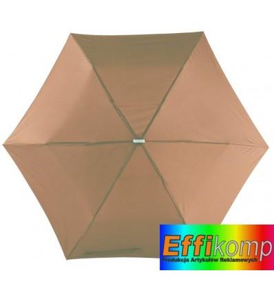Parasol, FLAT, brązowy.