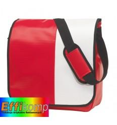 Torba na ramię, ACTION, czerwony/biały.