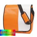 Torba na ramię, ACTION, pomarańczowy/biały.