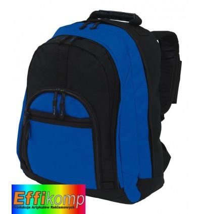 Plecak, NEW CLASSIC, czarny/niebieski.