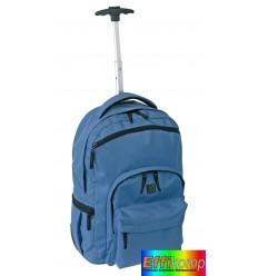 Plecak na kółkach, STYLO, niebieski/czarny.