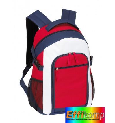 Plecak, MARINA, czerwony/niebieski/biały.